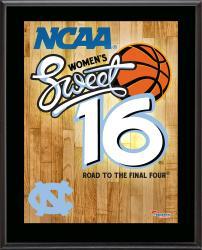 "North Carolina Tar Heels 2014 Women's Sweet 16 Sublimated 10.5"" x 13"" Plaque"