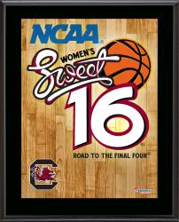 "South Carolina Gamecocks 2014 Women's Sweet 16 Sublimated 10.5"" x 13"" Plaque"