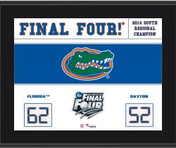 "Florida Gators 2014 Final Four Sublimated 10.5"" x 13"" Scoreboard Plaque"