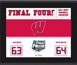 "Wisconsin Badgers 2014 Final Four Sublimated 10.5"" x 13"" Scoreboard Plaque"