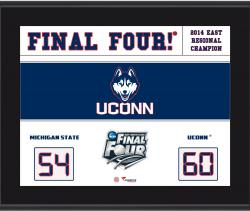 "UConn Huskies 2014 Final Four Sublimated 10.5"" x 13"" Scoreboard Plaque"