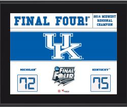"Kentucky Wildcats 2014 Final Four Sublimated 10.5"" x 13"" Scoreboard Plaque"