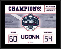 "UConn Huskies 2014 NCAA Men's Basketball National Champions Sublimated 10.5"" x 13"" Scoreboard Plaque"