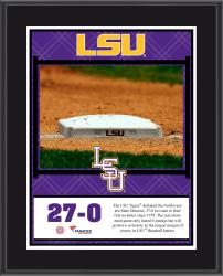 "LSU Tigers 27-0 No Hitter vs. Northwestern State Sublimated 10.5"" x 13"" Plaque"