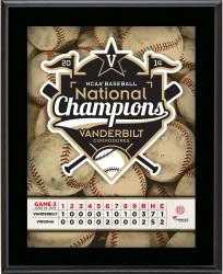 "Vanderbilt Commodores 2014 College World Series Champions 10"" x 13"" Sublimated Plaque"