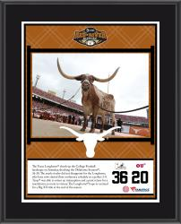 "Texas Longhorns Win Over Oklahoma Sooners Sublimated 10.5"" x 13"" Plaque"