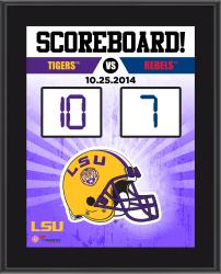 """LSU Tigers 2014 Win Over Ole Miss Rebels Sublimated 10.5"""" x 13"""" Scoreboard Plaque"""