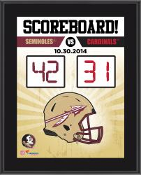 "Florida State Seminoles 2014 Win Over Louisville Cardinals Sublimated 10.5"" x 13"" Scoreboard Plaque"
