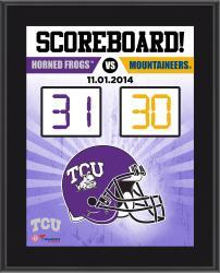 "TCU Horned Frogs 2014 Win Over West Virginia Mountaineers Sublimated 10.5"" x 13"" Scoreboard Plaque"