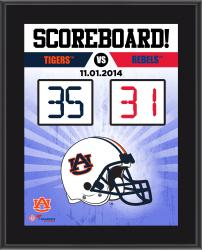 """Auburn Tigers 2014 Win Over Ole Miss Rebels Sublimated 10.5"""" x 13"""" Scoreboard Plaque"""