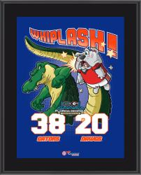 "Florida Gators 2014 Win Over Georgia Bulldogs Sublimated 10.5"" x 13"" Matchup Plaque"