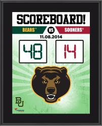 """Baylor Bears 2014 Win Over Oklahoma Sooners Sublimated 10.5"""" x 13"""" Scoreboard Plaque"""