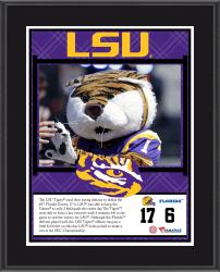 "LSU Tigers Win Over Florida Gators Sublimated 10.5"" x 13"" Plaque"