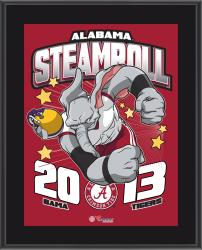 """Alabama Crimson Tide 2014 Win Over LSU Tigers Sublimated 10.5"""" x 13"""" Matchup Plaque"""