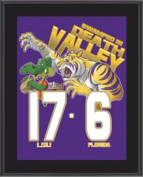 "LSU Tigers Win Over Florida Gators Sublimated 10.5"" x 13"" Matchup Plaque"