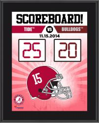 """Alabama Crimson Tide 2014 Win Over Mississippi State Bulldogs Sublimated 10.5"""" x 13"""" Scoreboard Plaque"""
