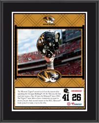 "Missouri Tigers Win Over Georgia Bulldogs Sublimated 10.5"" x 13"" Plaque"