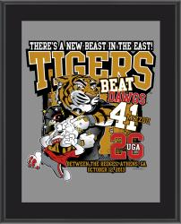 "Missouri Tigers Win Over Georgia Bulldogs Sublimated 10.5"" x 13"" Matchup Plaque"