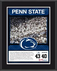 "Penn State Nittany Lions Over Michigan Wolverines Sublimated 10.5"" x 13"" Plaque"
