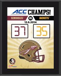 "Florida State Seminoles 2014 ACC Football Champions Sublimated 10.5"" x 13"" Scoreboard Plaque"