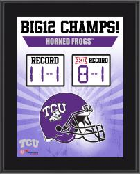 """TCU Horned Frogs 2014 Big 12 Football Champions Sublimated 10.5"""" x 13"""" Scoreboard Plaque"""