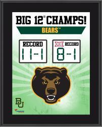 "Baylor Bears 2014 Big 12 Football Champions Sublimated 10.5"" x 13"" Scoreboard Plaque"