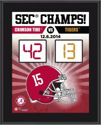 "Alabama Crimson Tide 2014 SEC Football Champions Sublimated 10.5"" x 13"" Scoreboard Plaque"