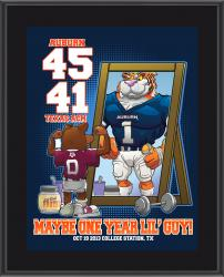 "Auburn Tigers Win Over Texas A&M Aggies Sublimated 10.5"" x 13"" Matchup Plaque"