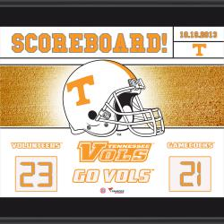 "Tennessee Volunteers Win Over South Carolina Gamecocks Sublimated 10.5"" x 13"" Scoreboard Plaque"