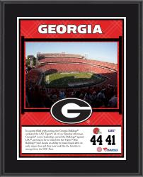 "Georgia Bulldogs Win Over LSU Tigers Sublimated 10.5"" x 13"" Plaque"