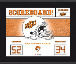 "Oklahoma State Cowboys Win Over Texas Tech Red Raiders Sublimated 10.5"" x 13"" Scoreboard Plaque"