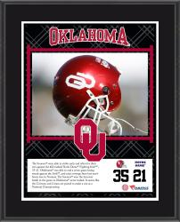 "Oklahoma Sooners Win Over Notre Dame Fighting Irish Sublimated 10.5"" x 13"" Plaque"