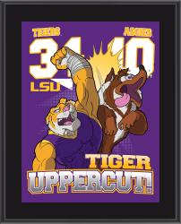 "LSU Tigers Win Over Texas A&M Aggies Sublimated 10.5"" x 13"" Matchup Plaque"