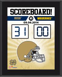 "Notre Dame Fighting Irish 2014 Win Over Michigan Wolverines Sublimated 10.5"" x 13"" Scoreboard Plaque"