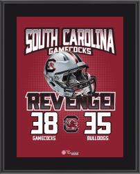 "South Carolina Gamecocks 2014 Win Over Georgia Bulldogs Sublimated 10.5"" x 13"" Matchup Plaque"