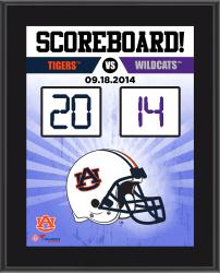 Auburn Tigers 2014 Win over Kansas State Wildcats 10.5'' x 13'' Sublimated Scoreboard Plaque