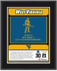 "West Virginia Mountaineers Win Over Oklahoma State Cowboys Sublimated 10.5"" x 13"" Plaque"