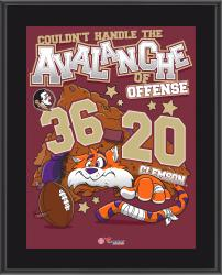 FSU Seminoles 2014 Win Over the Clemson Tigers 10.5'' x 13'' Sublimated Matchup Plaque