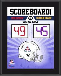 "Arizona Wildcats 2014 Win Over Cal Golden Bears Sublimated 10.5"" x 13"" Scoreboard Plaque"