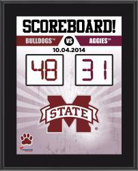 Mississippi State Bulldogs 2014 Win Over #6 Texas A&M Aggies 10.5'' x 13'' Scoreboard Plaque