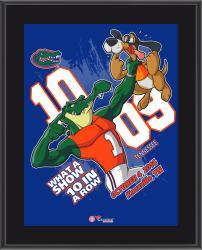 Florida Gators 2014 Win Over Tennessee Volunteers 10.5'' x 13'' Matchup Plaque