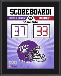TCU Horned Frogs 2014 Win over #4 Oklahoma Sooners 10.5'' x 13'' Scoreboard Plaque