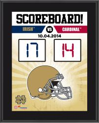 Notre Dame Fighting Irish 2014 Win over #14 Stanford Cardinals 10.5'' x 13'' Scoreboard Plaque