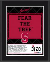 "Stanford Cardinal Win Over Washington Huskies Sublimated 10.5"" x 13"" Plaque"