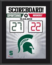 Michigan State Spartans 2014 Win over #19 Nebraska Cornhuskers 10.5'' x 13'' Scoreboard Plaque