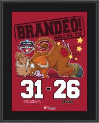 Oklahoma Sooners 2014 Win Over Texas Longhorns 10.5'' x 13'' Matchup Plaque