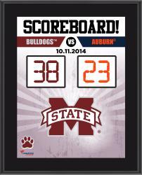 Mississippi State Bulldogs 2014 Win Over #2 Auburn Tigers 10.5'' x 13'' Scoreboard Plaque