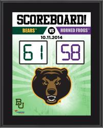 Baylor Bears 2014 Win over #9 TCU Horned Frogs10.5'' x 13'' Scoreboard Plaque