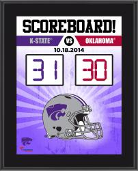 "Kansas State Wildcats 2014 Win Over Oklahoma Sooners Sublimated 10.5"" x 13"" Scoreboard Plaque"