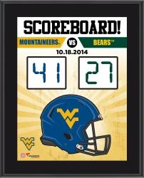"""West Virginia Mountaineers Fanatics Authentic 2014 Win Over Baylor Bears Sublimated 10.5"""" x 13"""" Scoreboard Plaque"""
